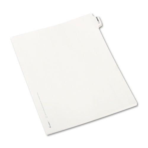 Avery-Style Preprinted Legal Side Tab Divider, Exhibit J, Letter, White, 25/Pack