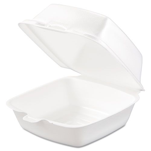 Carryout Food Container, Foam, 1-Comp, 5 1/2 x 5 3/8 x 2 7/8, White, 500/Carton