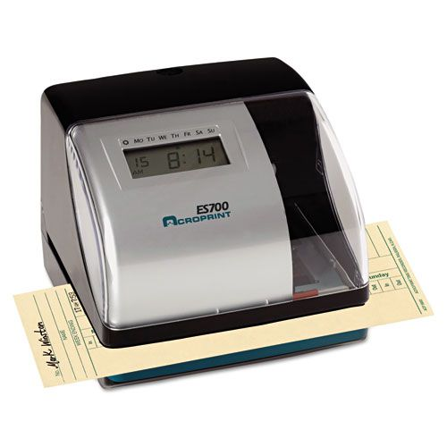ES700 Digital AutomaticTime Recorder, Silver and Black