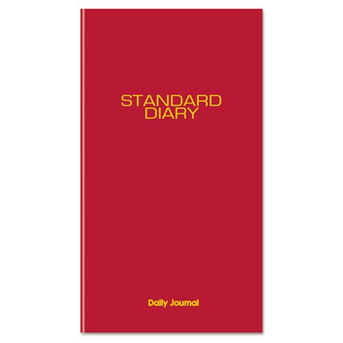 Standard Diary Recycled Daily Journal, Red, 7 11/16 x 12 1/8, 2018