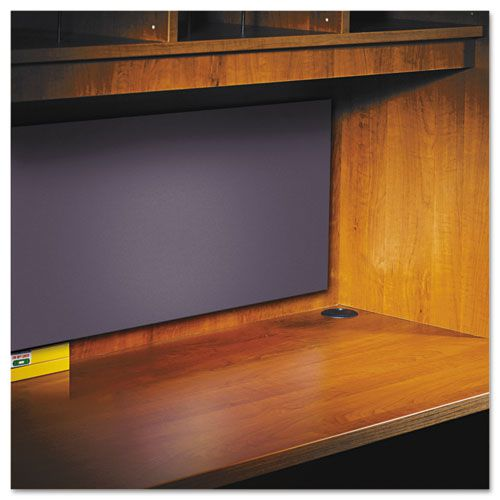 Tackboard For Open Storage Hutch, 43-1/8w x 1/2d x 14h, Charcoal