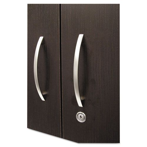 Hospitality Wall Cabinet, Two Doors, 36w x 14 3/16d x 29 3/4h, Espresso