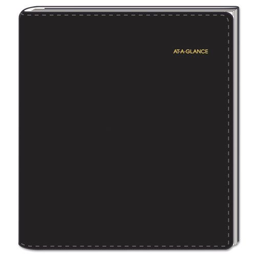 Plus Weekly Appointment Book, 8 1/4 x 10 7/8, Black, 2018-2019