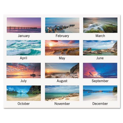 Seascape Panoramic Desk Pad, 22 x 17, 2018