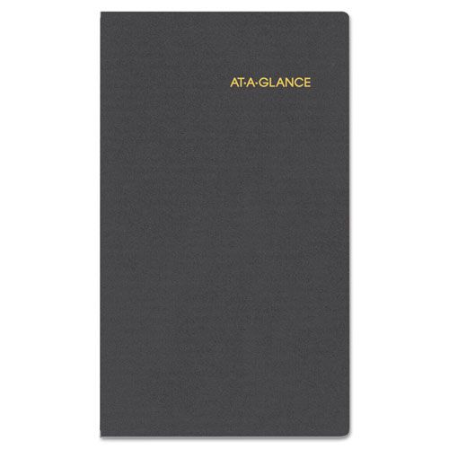 Compact Weekly Appointment Book, 3 1/4 x 6 1/4, Black, 2018