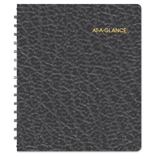 Weekly Planner Ruled for Open Scheduling, 6 3/4 x 8 3/4, Black, 2018