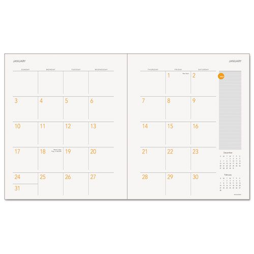 Plan. Write. Remember. Academic Monthly Planner, 9 1/8 x 10 15/16, WE, 2018-2019