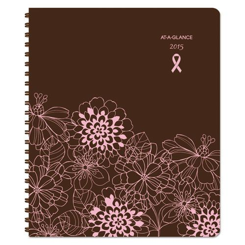 Sorbet Weekly/Monthly Appointment Book, 8 1/4 x 10 7/8, Brown/Pink, 2018