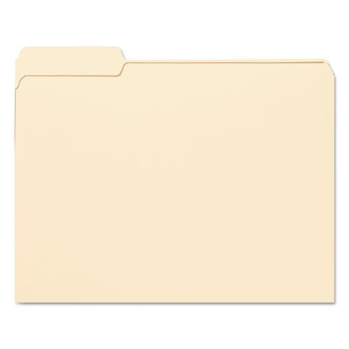 File Folders, 1/3 Cut First Position, One-Ply Top Tab, Letter, Manila, 100/Box