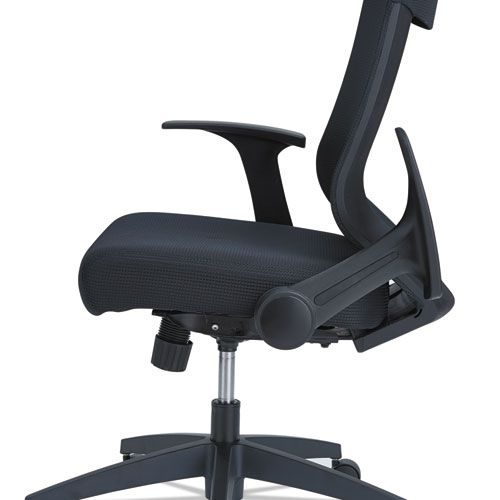 Alera EB-K Series Synchro Mid-Back Mesh Chair, Black/Black Frame