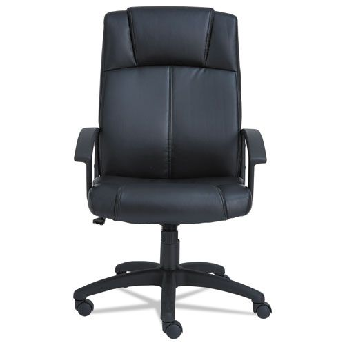 Alera CL Series High-Back Leather Chair, Black