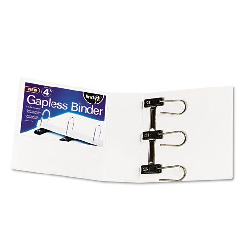 Gapless Loop Ring View Binder, 11 x 8-1/2, 4