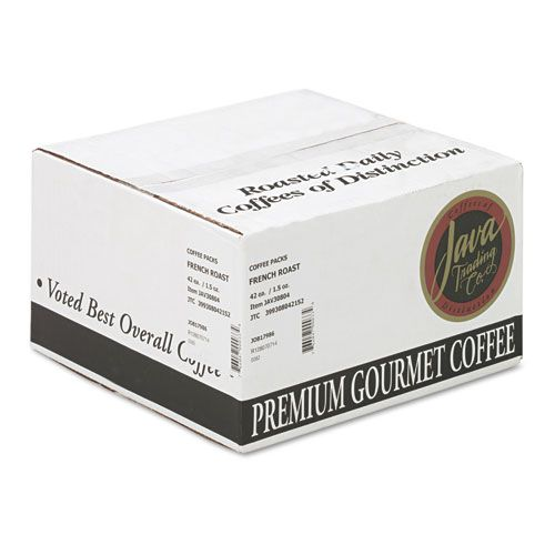 Coffee Portion Packs, 1.5oz Packs, French Roast, 42/Carton