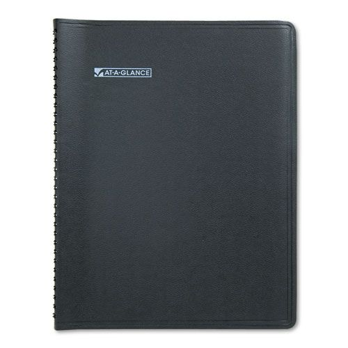 QuickNotes Monthly Planner, 8 1/4 x 10 7/8, Black, 2018