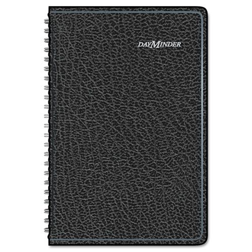 Block Format Weekly Appointment Book w/Contacts Section, 4 7/8 x 8, Black, 2018
