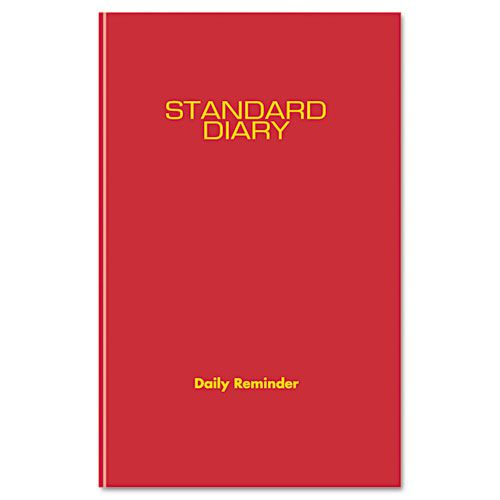 Standard Diary Recycled Daily Reminder, Red, 5 3/4 x 8 1/4, 2018
