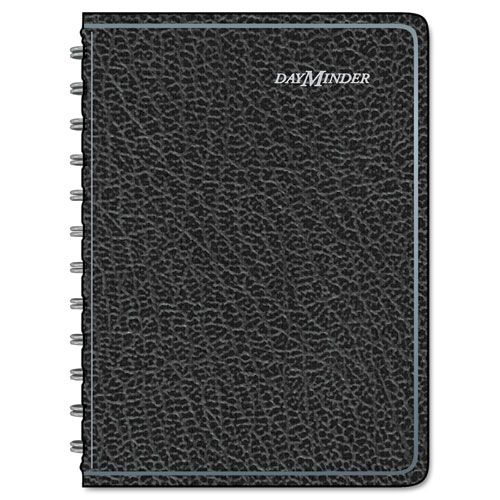Daily Appointment Book with Hourly Appointments, 8 x 4 7/8, Black, 2018