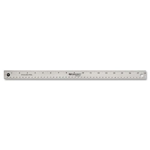Stainless Steel Office Ruler With Non Slip Cork Base, 18
