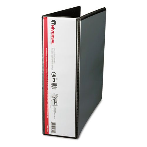 Deluxe Round Ring View Binder, 3