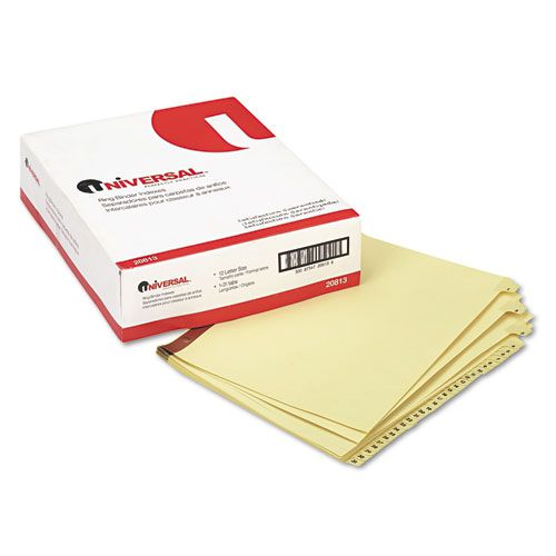 Preprinted Plastic-Coated Tab Dividers, 31 Numbered Tabs, Letter, Buff, 31/Set