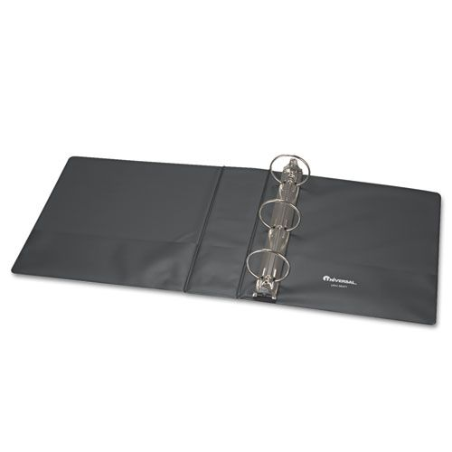 Economy Non-View Round Ring Binder With Label Holder, 3