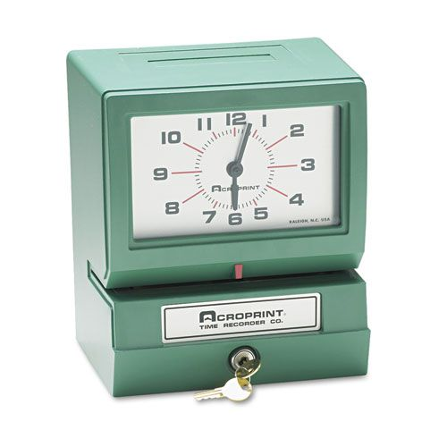 Model 150 Analog Automatic Print Time Clock with Day/1-12 Hours/Minutes