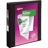 "Avery® Durable View 3 Ring Binder, 1"" Slant Rings, 1 Black Binder"
