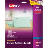 Avery® Matte Clear Easy Peel Address Labels