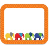 Carson-Dellosa Parade of Elephants Colorful Name Tags