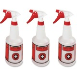 Spray Alert Spray Bottles, 24oz 3 Pack