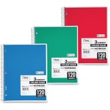 Mead 3 - Subject Wirebound College Ruled Notebooks - Letter