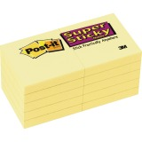 "Post-it® Super Sticky Notes, 2"" X 2"" Canary Yellow"