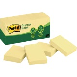 Post-it Greener Notes, 1.5 in x 2 in, Canary Yellow