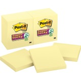 "Post-it® Super Sticky Notes, 3"" x 3"", Canary Yellow"