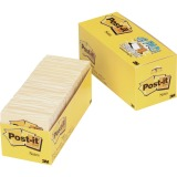 "Post-it® Notes, 3"" x 3"" Canary Yellow Cabinet Pack"