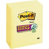 "Post-it® Super Sticky Notes, 3"" x 5"" Canary Yellow"