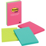Post-it Notes, 4 in x 6 in, Cape Town Color Collection, Lined