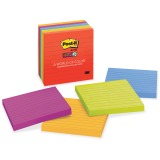 Post-it Super Sticky Notes, 4 in x 4 in, Marrakesh Color Collection, Lined
