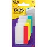 "Post-it® Durable Tabs, 2"" x 1.5"", Assorted Primary Colors"