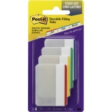 "Post-it® Durable Tabs, 2"" x 1.5"" Lined, Assorted Primary Colors"