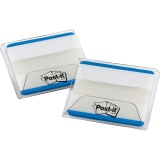 "Post-it® Durable Tabs, 2"" x 1.5"" Lined, Blue"