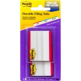 "Post-it® Durable Tabs, 2"" x 1.5"", Red"