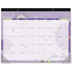At-A-Glance Paper Flowers Academic Calendar Desk Pad