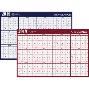 At-A-Glance Erasable/Reversible Horizontal Yearly Wall Planner