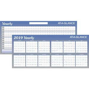 At-A-Glance Large Erasable/Reversible Horizontal Yearly Wall Planner
