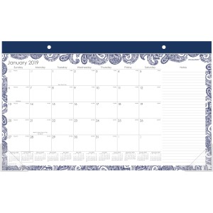 At-A-Glance Paige Monthly Desk Pad Calendar