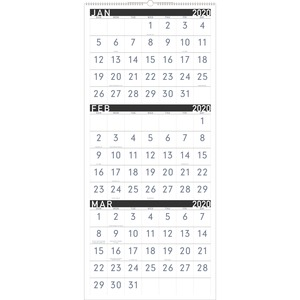 At-A-Glance Contemporary 3-Month Vertical Wall Calendar