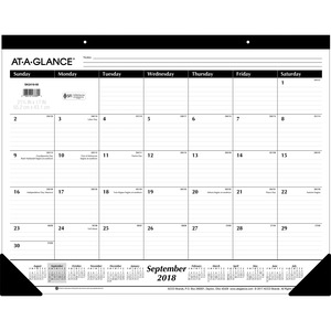 At-A-Glance 16-Month Monthly Desk Pad