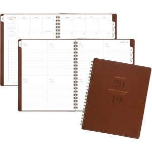 At-A-Glance Signature Collection Weekly/Monthly Planner, Gray