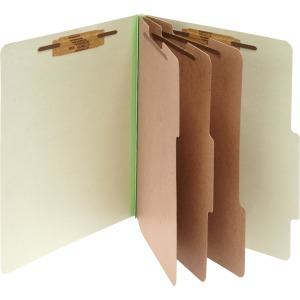 ACCO® Pressboard 8-Part Classification Folders, Letter Green, Box of 10